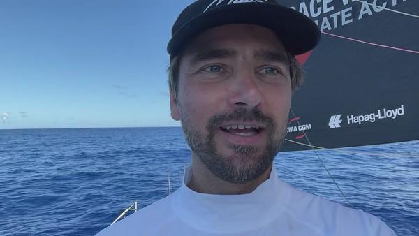Day 15 - 20:30 - Boris shows us the procedure of a sail change - PART 1