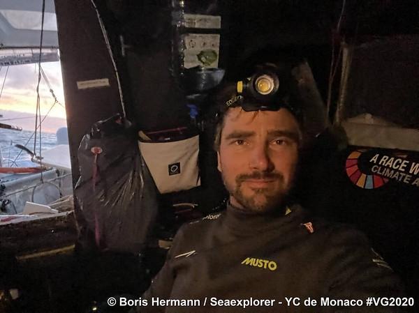 Day 2 - Onboard Selfie – Vendée Globe 2020