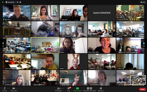 `Day 40 - Zoom call with French School Kids