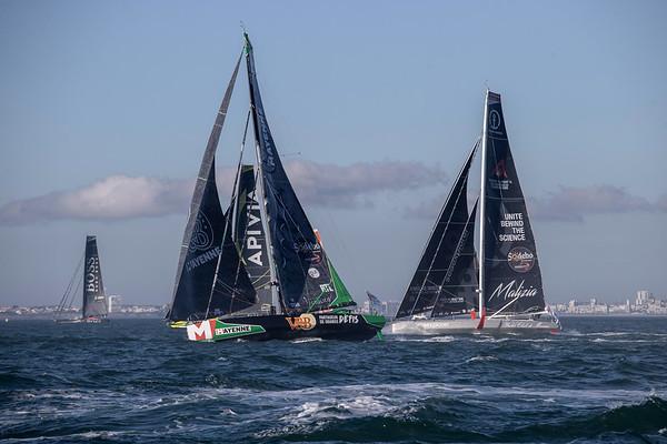 Boris Herrmann and Seaexplorer Yacht Club de Monaco on the 2020/2021 Vendée Globe start