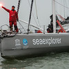 Boris Herrmann and Seaexplorer / Yacht Club de Monaco finishing the 2020/2021 Vendée Globe at Sables d'Olonne