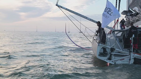 Boris Herrmann and Seaexplorer Yacht Club de Monaco on the 2020/2021 Vendée Globe start. - Video hardcuts part 2
