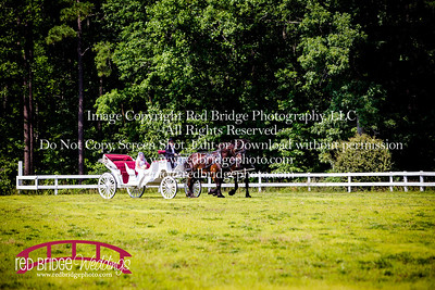 Summer-wedding-photography-of-Sarah-and-David-at-Bennett-Bunn-Plantation-with-bride-arriving-on-a-horse-13