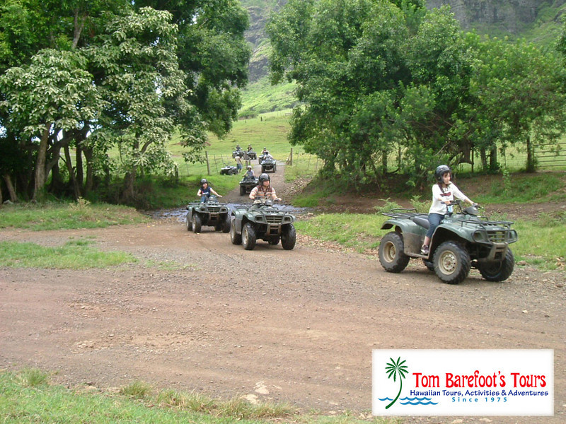 """<a title=""""Make a reservation for Kualoa Ranch, Deluxe Full Day Adventure Package with Tom Barefoot's Tours"""" href=""""http://www.tombarefootshawaiitoursactivities.com/product.php?id=1208&name=Deluxe_Full_Day_Adventure_Pkg"""">Kualoa Ranch, Deluxe Full Day Adventure Package</a>"""
