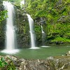 Hawaii, Maui, Tripple Falls, Waterfall near the Hana Highway