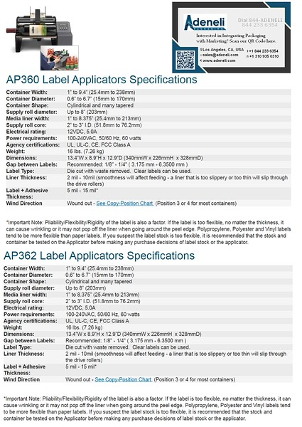 AP360 and AP362 Round Products