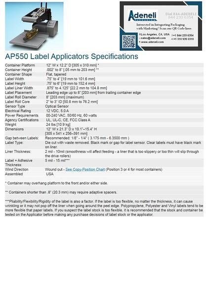AP550 Flat products