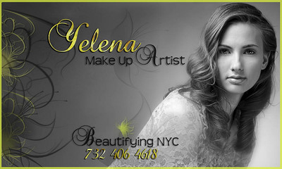Yelena is available for PORTRAIT SHOOTINGS, BRIDAL MAKE UP and other SPECIAL EVENTS in both classic and fashion style. To discuss your ideas and reserve your day with Yelena call 732-406-4618