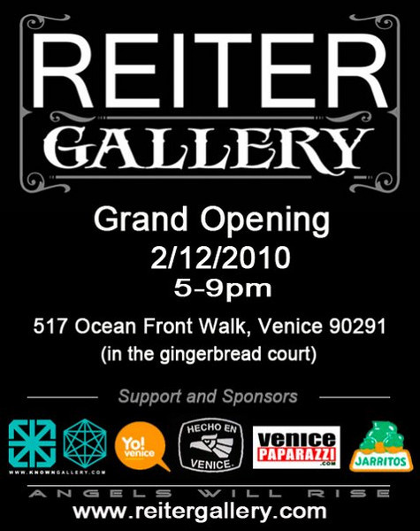 """REITER GALLERY. 517 OCEAN FRONT WALK, VENICE, CA. 90291. (In the Gingerbread Court). <a href=""""http://www.reitergallery.com"""">http://www.reitergallery.com</a>.  Mich Reiter.  Photo by Venice Paparazzi.   <a href=""""http://www.venicepaparazzi.com"""">http://www.venicepaparazzi.com</a>"""