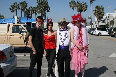2009 Venice Beach Mardi Gras Parade on the Venice Beach Boardwalk.  Hosted by The Krewe of Grandview.  Photo by William Blanco.  Visit Venice Paparazzi www.venicepaparazzi.com