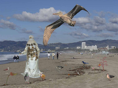 BIRDS & SURFERS-SANTA MONICA BEACH-2010