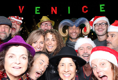 8th Annual Venice Holiday Sign Lighting. Photo booth by Venice Paparazzi  @VeniceSign #VeniceSign #VeniceChamber