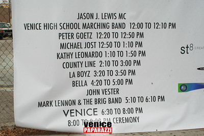 Awards, Recognition and the lighting of the Venice Sign
