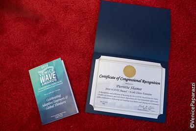 2018 WAVE AWARDS.  VeniceChamber.net.  Photo by VenicePaparazzi.com