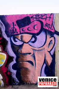 Visit the Venice Public Art Walls, a.k.a. Venice Graffiti Walls. For more information visit, www.veniceartwalls.com www.icuart.com.  Photo by Venice Paparazzi.  www.venicepaparazzi.com