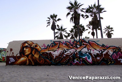 Visit the walls. Venice Public Art Walls. 1800 Ocean Front Walk. Venice, California 90291. For more information, visit www.veniceartwalls.com or www.icuart.com.   Photos by www.venicepaparazzi.com