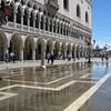 Flooding in Piazza San Marco on the east side of the Palazzo Ducale.