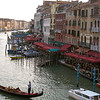View of the Grand Canal from the Ponte Rialto.