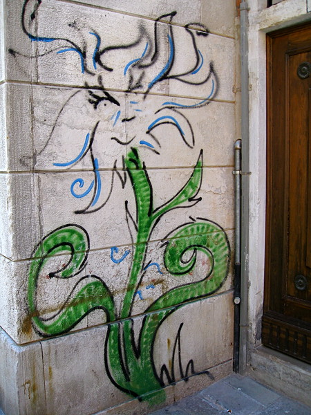 Street art near Strada Nova, Cannaregio.