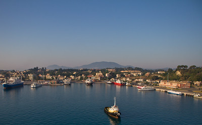 Corfu Docking in Early Morning