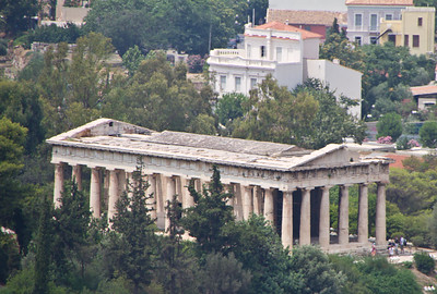 Athens Temple of Zeus Below Acropolis