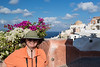Susan enjoying Oia.