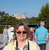 Susan with old stuff in background.