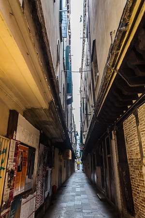 Narrow street lane in Venice