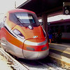 High speed train at the Ferrovia