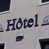 I liked this hotel sign done in blue mosaic