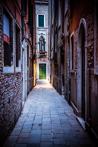 Narrow street lane in Venice