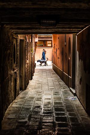 Street life in Venice