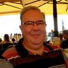 Hugh enjoying a break in a cafe in Venice