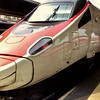 A high speed train in the station in Venice