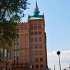 This building is the Molino Stucky an old flour mill dating back to 1895. It has now been fully restored and houses the Hilton Hotel and private apartments