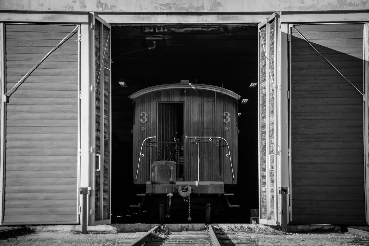 Passasjer vogn i vognhallen