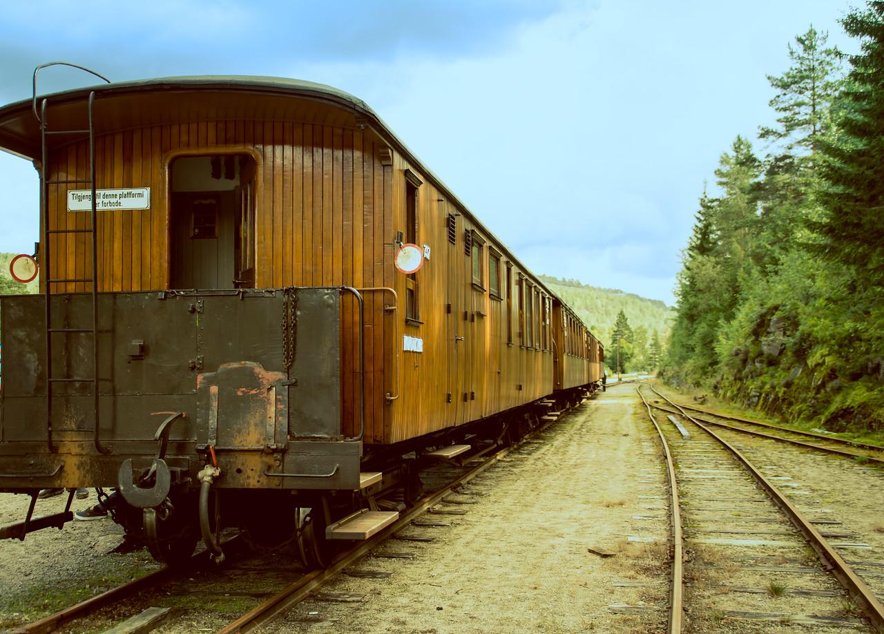 Setesdalsbanen ved Røyknes stasjon