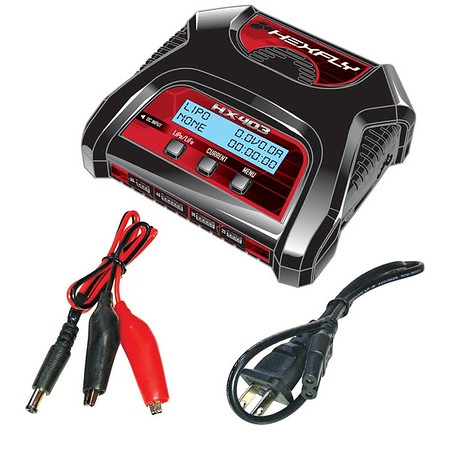 Hexfly HX403D 2-4 Cell AC/DC LiPo Battery Balance Charger