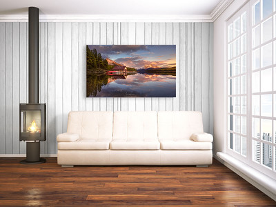 63843527 - bright interior with empty frame. 3d rendering