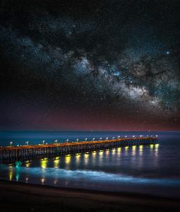 California Dreaming: Ventura Pier Milky Way Fine Art Landscape Nature Photography
