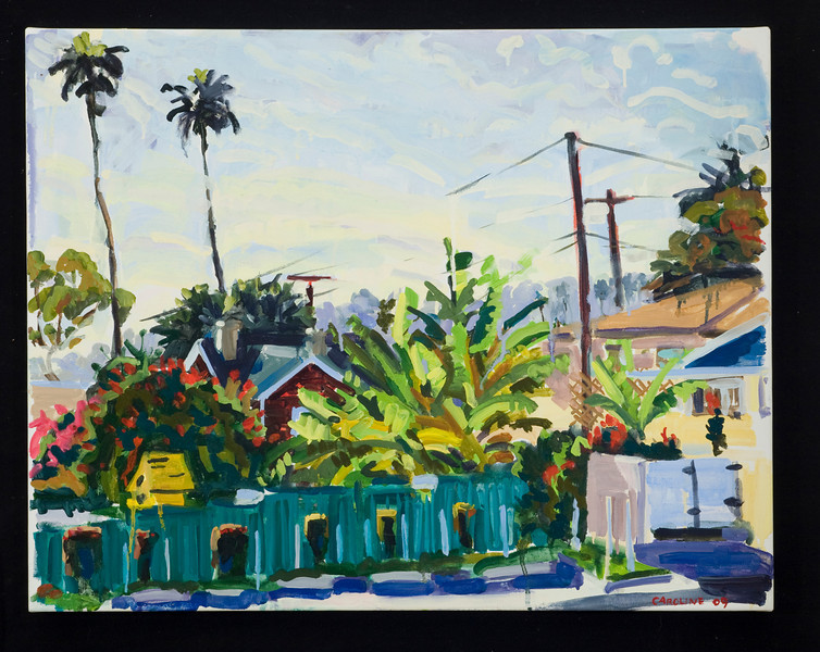 """Ventura, palms and bananas, 2009, 24x30"""", oil on canvas"""