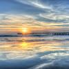 ventura pier sunset reflection 5768-