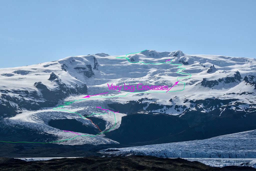 This is Tess Carney and Shane Orchard's route on Sveinstindur öræfajökull