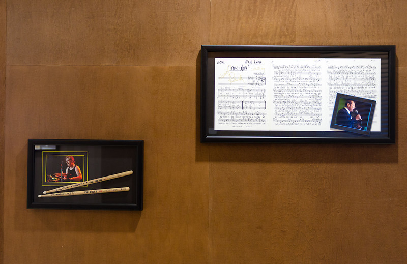 """Signed copy of the original sheet music to MY WAY - Paul Anka and signed drum sticks from Stu """"Cosmo"""" - C.C.R."""