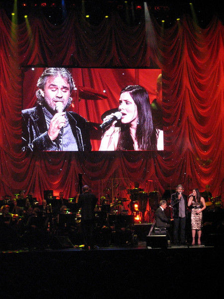 "Andrea Bocelli and Katharine McPhee  ""David Foster and Friends Charity Gala"" with the  Toronto Symphony Orchestra"