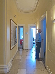 xFrench Cultural Services_2017 (11)_3d fl hallway to kitchen (right) and restroom (left)