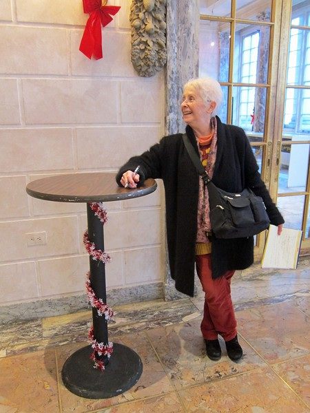 xFrench Cultural Services_2017 (7)_Jackie measuring the high-top table