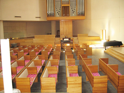Center pews in the Sanctuary  (138 seats)
