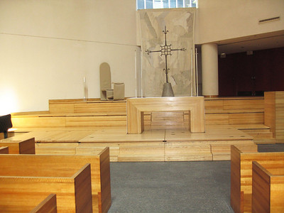 Altar area seen from center seating section