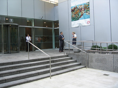 Entrance to Boston Properties on 53rd St, including ADA ramp